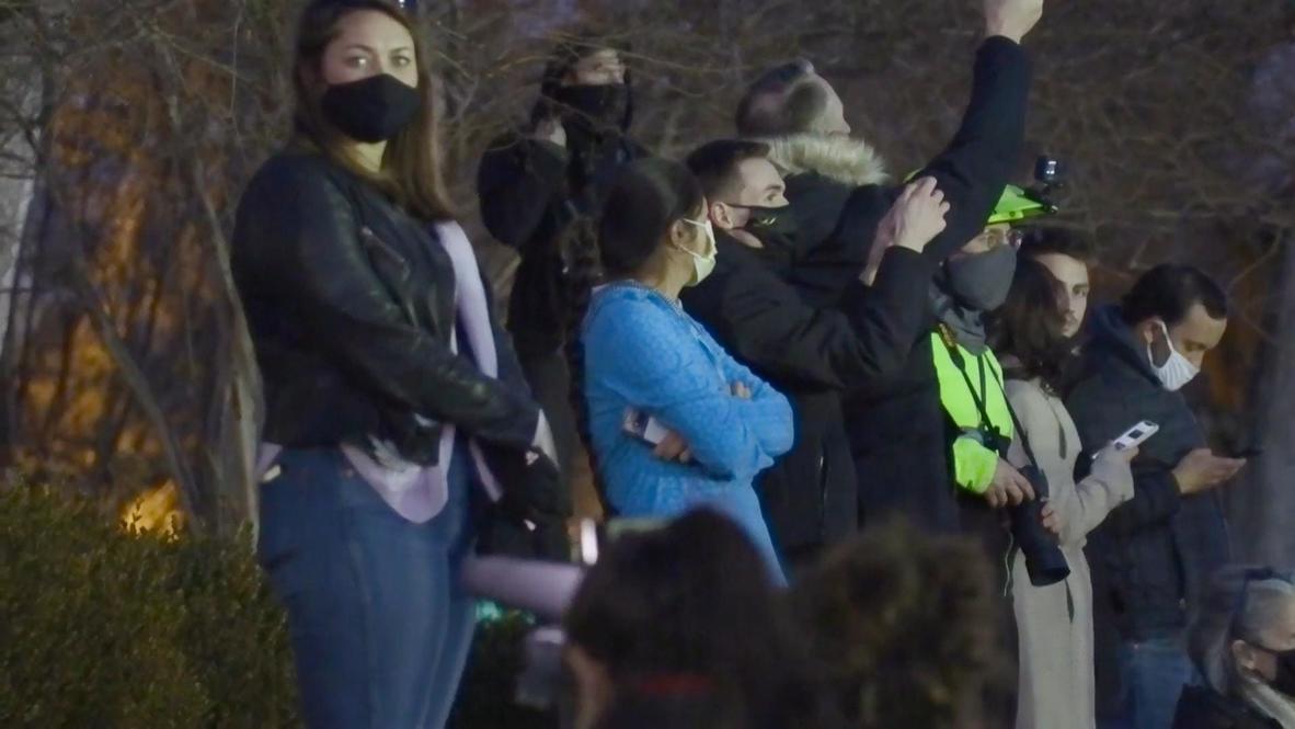 EE.UU.: Residentes de Washington DC reaccionan mientras Biden y Harris dirigen homenaje a las víctimas de covid