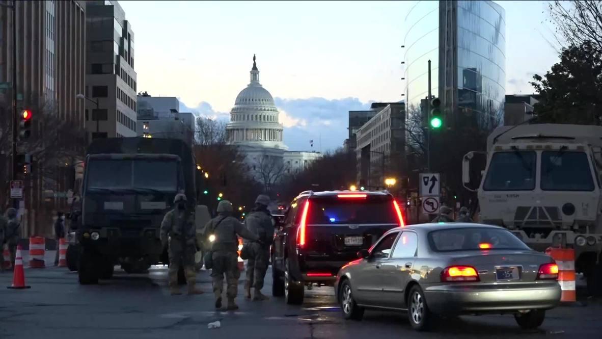 EE.UU.: Washington DC se despierta el día de la investidura de Joe Biden