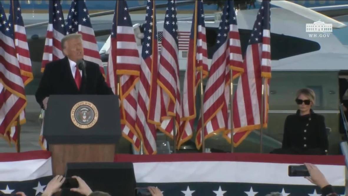"""الولايات المتحدة الأمريكية: ترامب قبيل رحيله من البيت الأبيض: """"إدارتنا لم تكن عادية"""""""