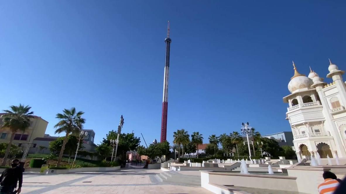 افتتاح أعلى أرجوحة ملاهي في العالم في بوليوود باركس في دبي