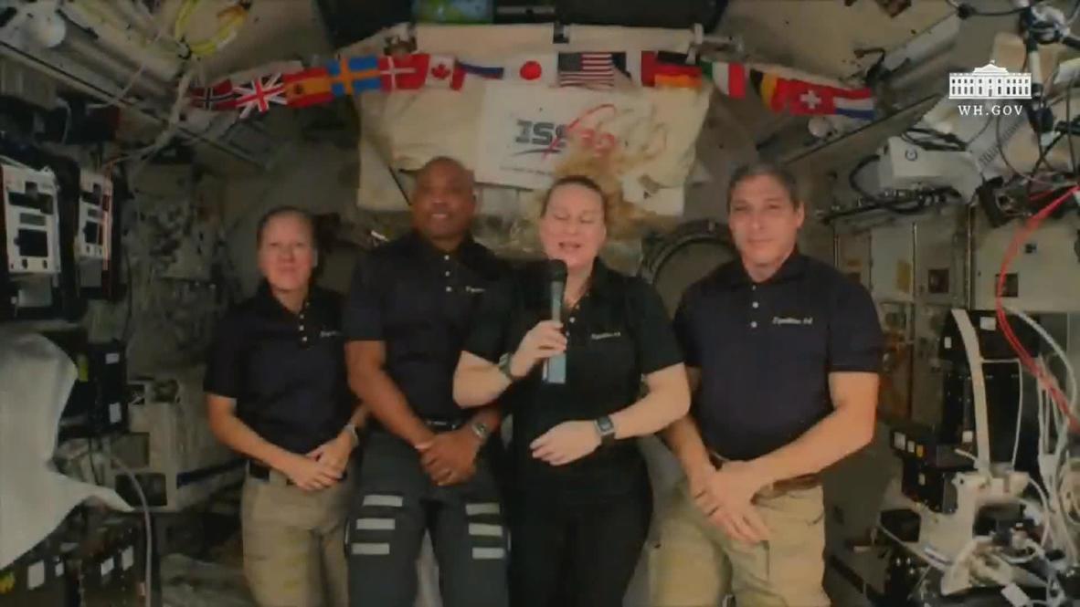 EEI: Astronautas de la NASA celebran la toma de posesión desde el espacio