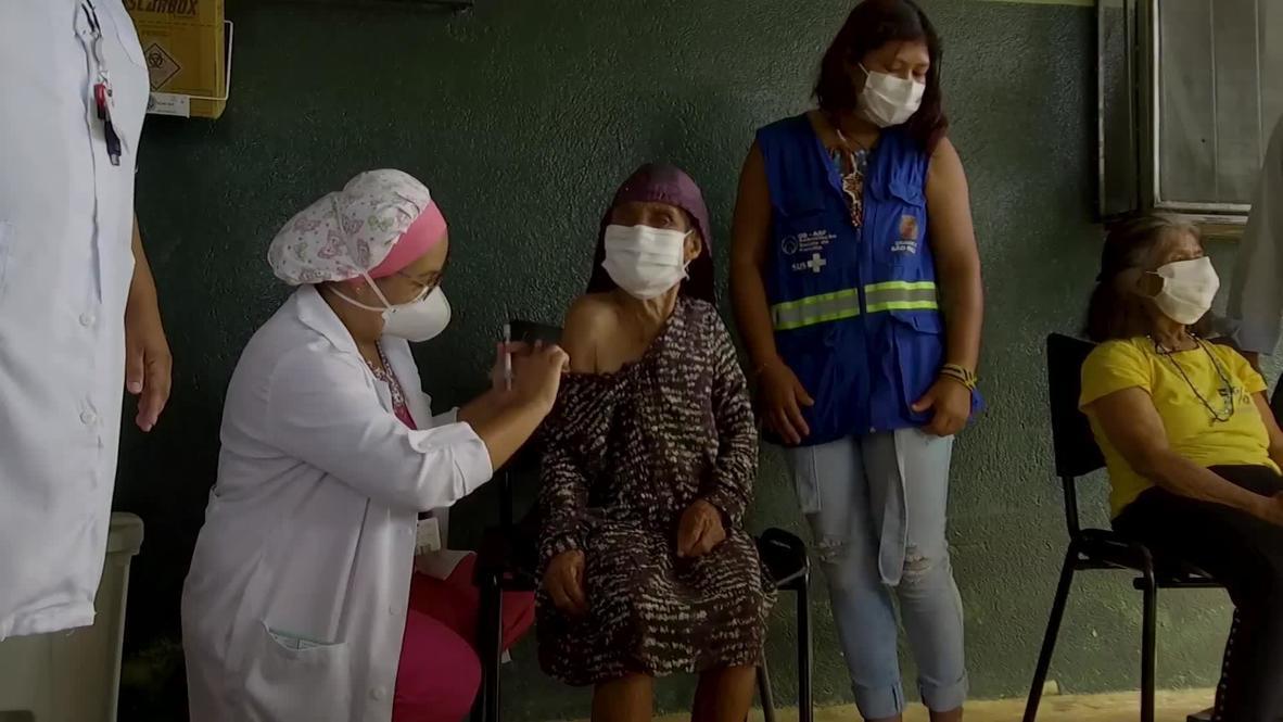 البرازيل: امرأة بعمر 107 سنوات تتلقى لقاح كوفيد-19 في منطقة ساو باولو