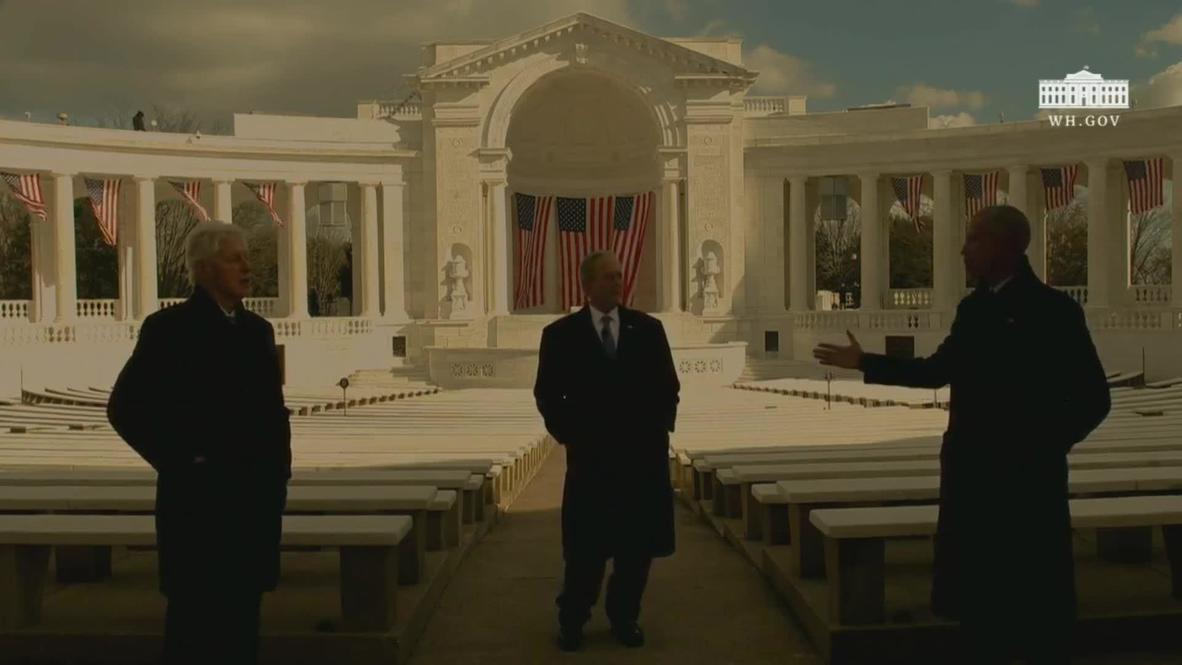الولايات المتحدة الأمريكية: أوباما وبوش وكلينتون يتمنون النجاح لبايدن في ظهور مشترك خلال حفل التنصيب