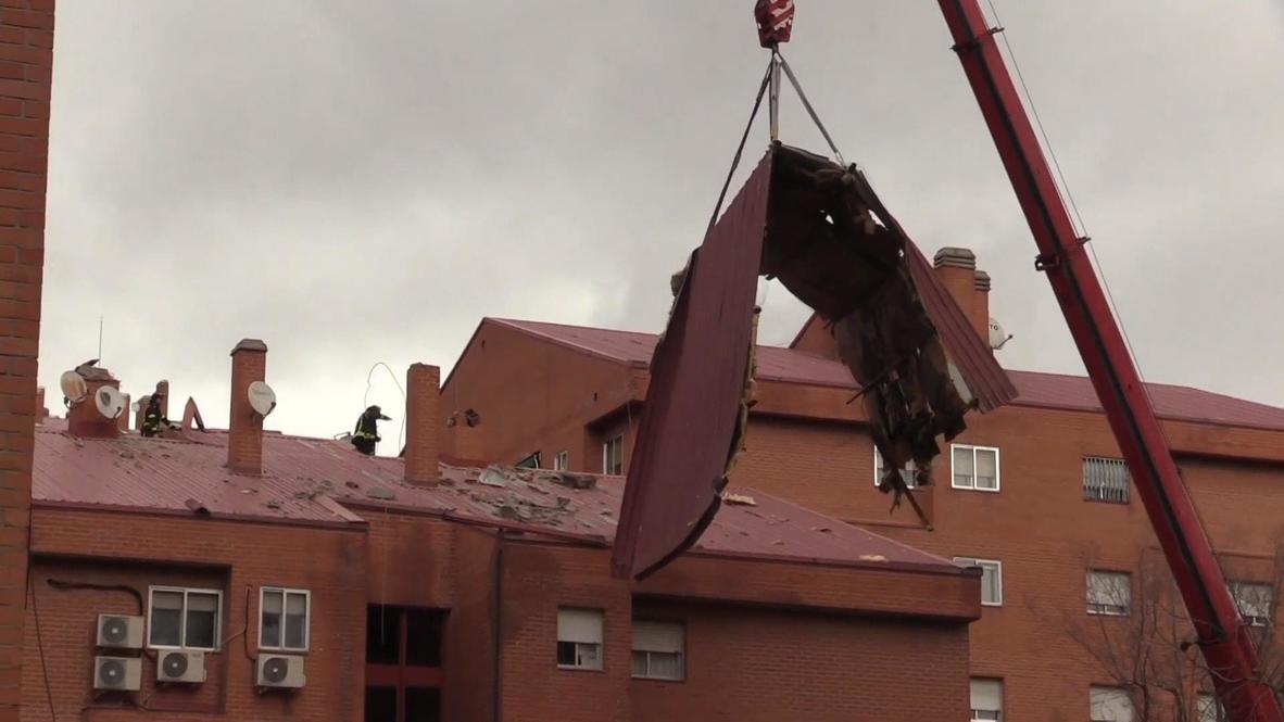 España: La borrasca Hortense causa destrozos en Madrid