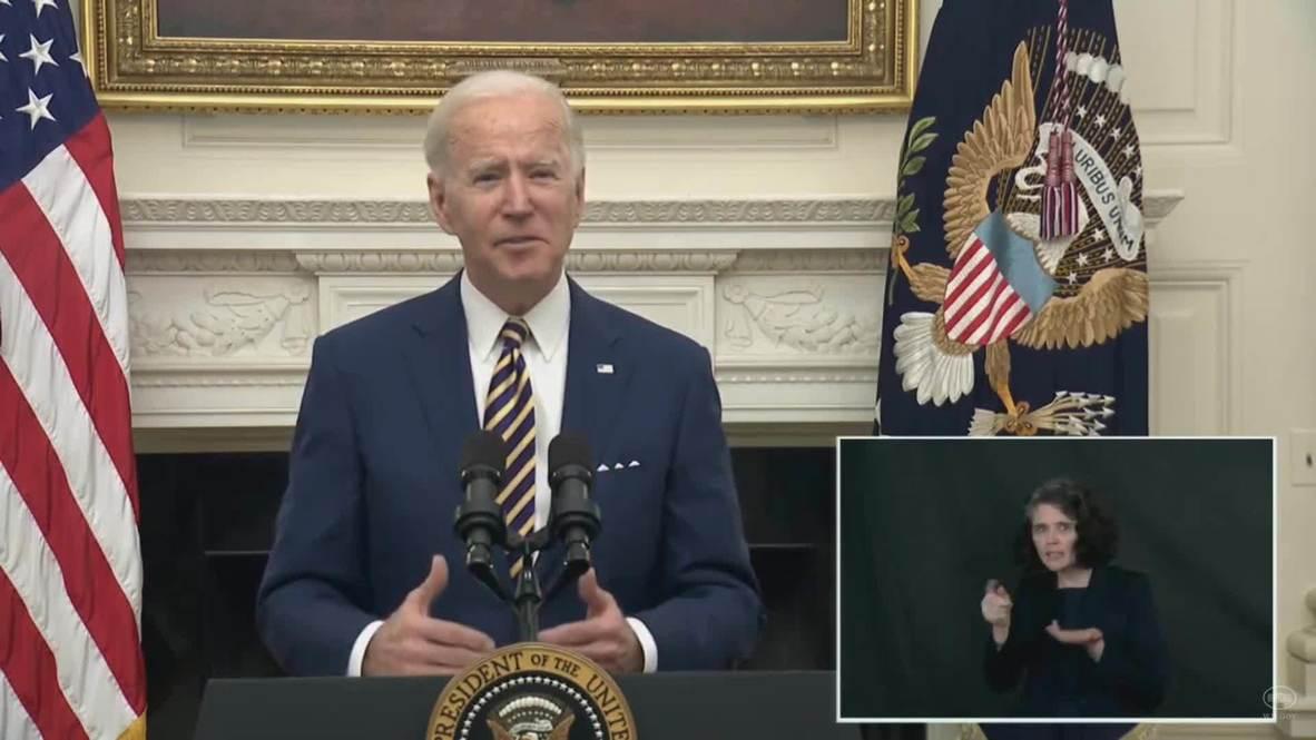 الولايات المتحدة الأمريكية: بايدن يكشف عن خطة إنقاذ لمواجهة الأزمة الاقتصادية التي سببها فيروس كورونا