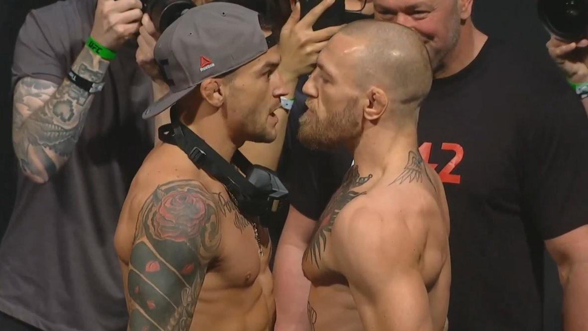 EAU: McGregor y Poirier superan el último pesaje antes del combate de la UFC 257