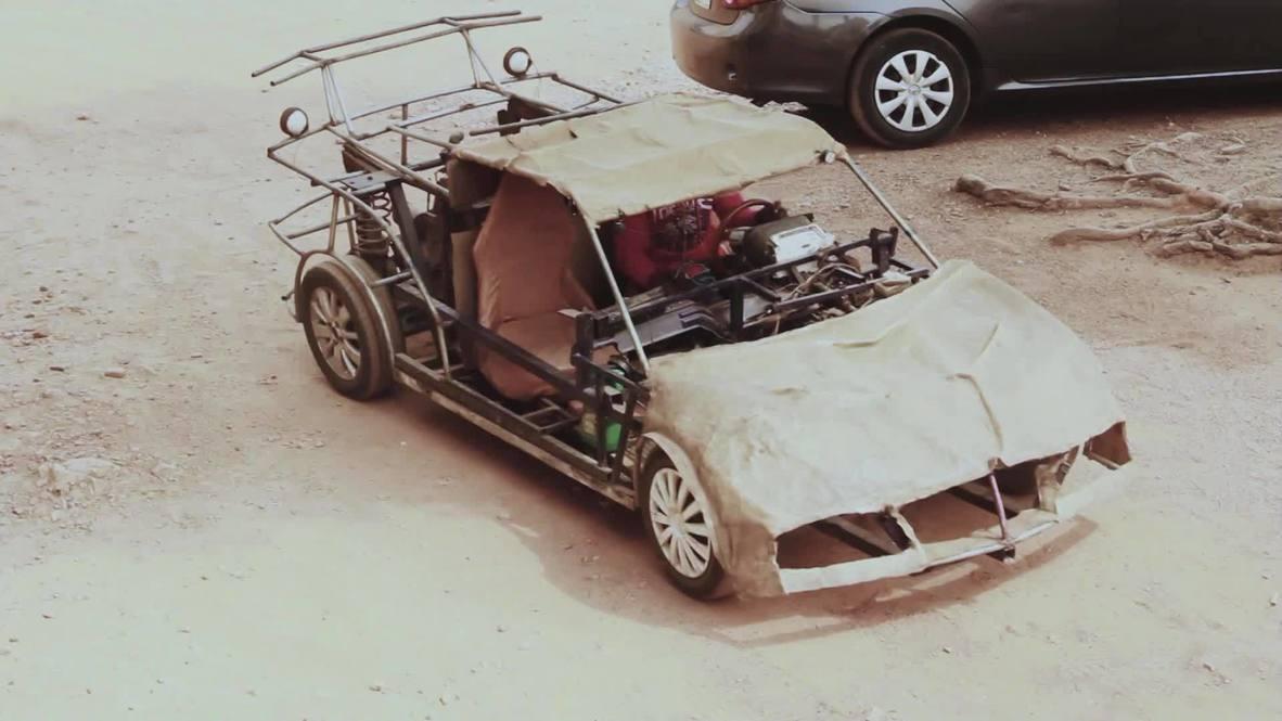 Используй все, что под рукой. Самоучка из Нигерии собрал автомобиль из металлолома