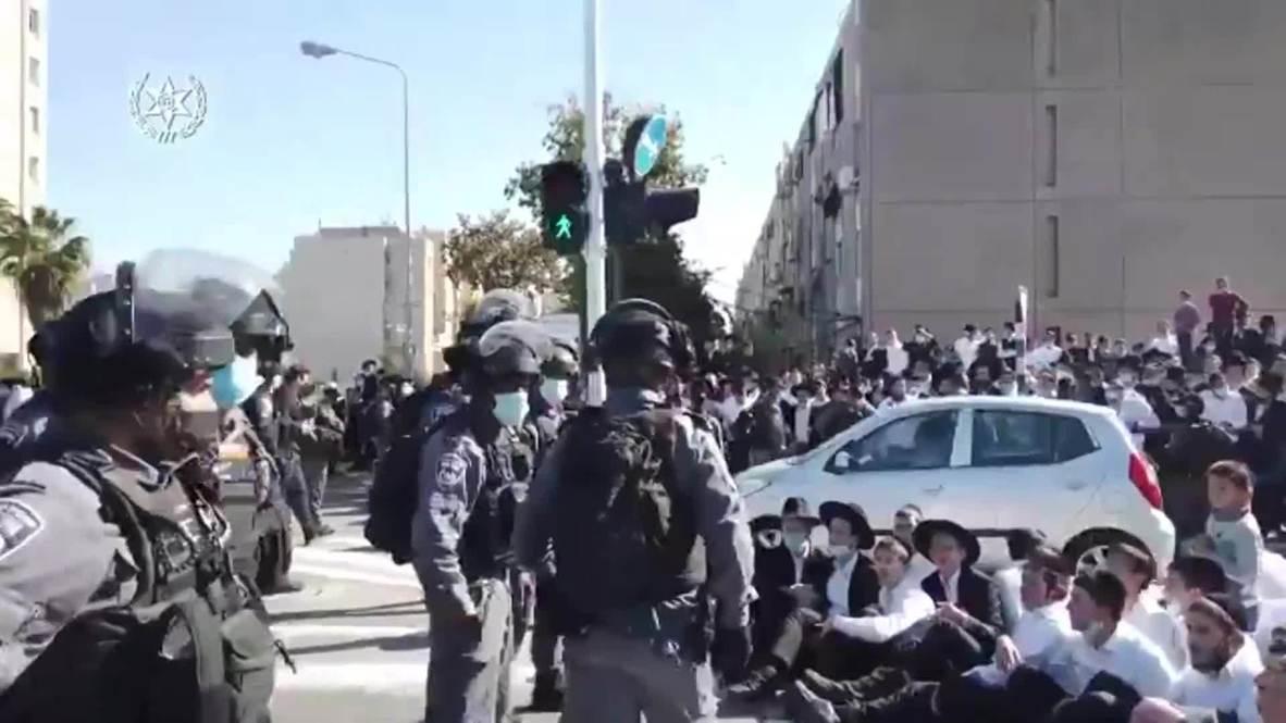 إسرائيل: اندلاع اشتباكات بين يهود متطرفين والشرطة بسبب قيود كوفيد في أسدود