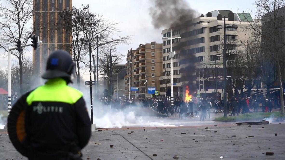 Países Bajos: Protesta contra el confinamiento causa estragos en Eindhoven