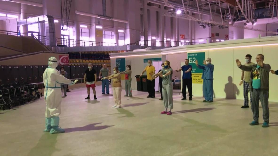 Rusia: Enfermos de covid se recuperan practicando antiguos ejercicios chinos de taichí en Moscú