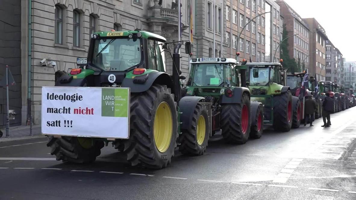 Alemania: Tractores bloquean las calles de Berlín durante protesta contra política agrícola del Gobierno