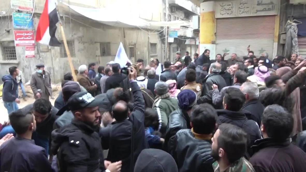 سوريا: تصاعد التوترات خلال مواجهة بين السكان المحتجين على حصار الحسكة وعناصر تابعين لقوات سوريا الديمقراطية